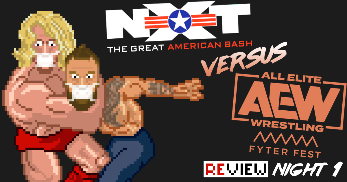 AEW Fyter Fest vs. NXT The Great American Bash Night 1 Review Podcast | SCHWITZKASTEN | Pro Wrestling Podcast | www.schwitzcast.de
